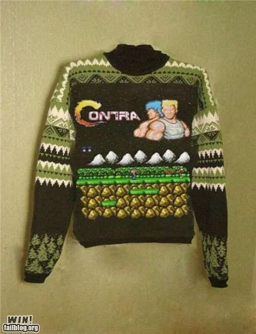 contra fashion konami code nerdgasm NES sweater
