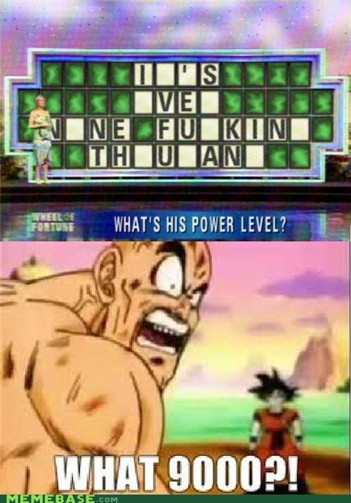 9000 dragonball z Memes power level scouter what - 5122239744