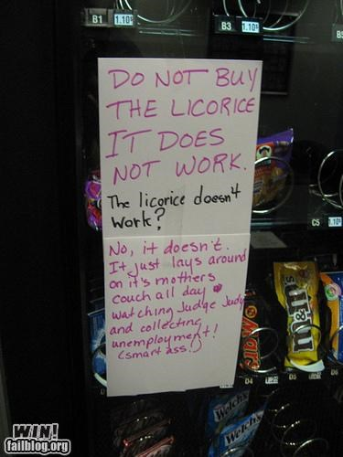 candy,college,poster,sassback,sign,vending machine,warning