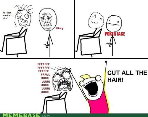 all the guy all the things haircut poker face Rage Comics - 5122280960