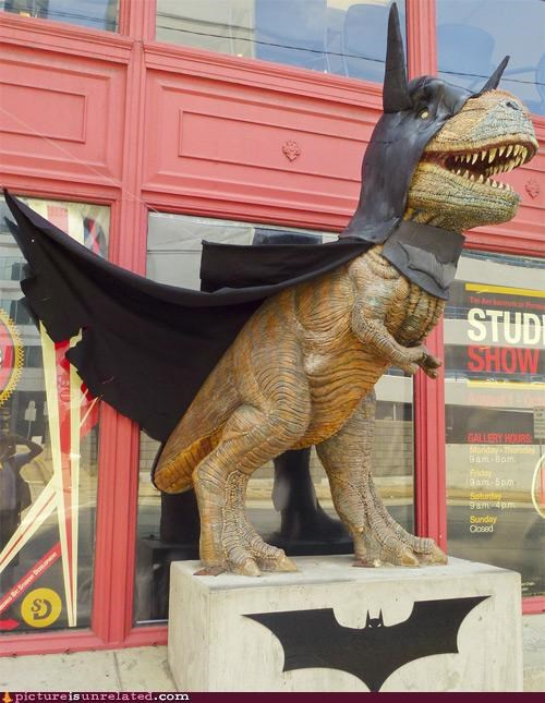 batman,best of week,Random Heroics,statue,t rex