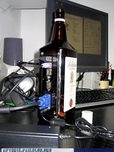 booze,bottle,computer,macguyver,recycling