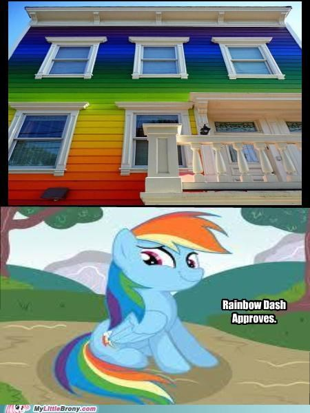 colors house IRL paint rainbow rainbow dash stripes - 5123364608