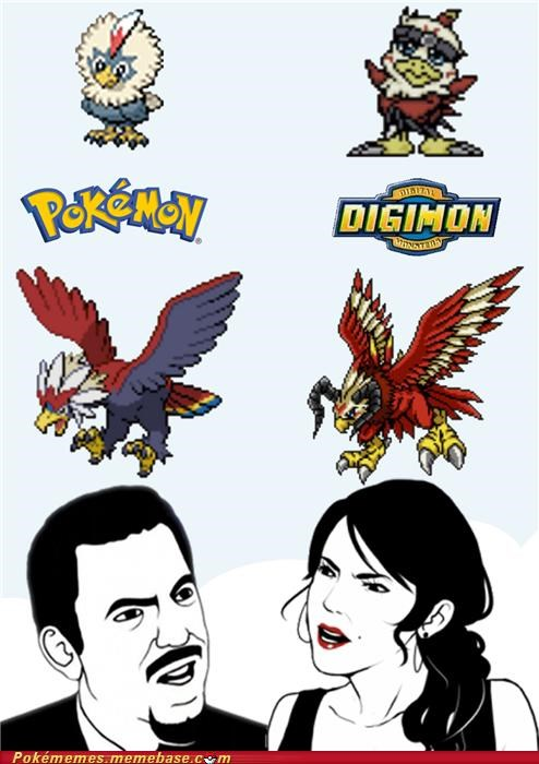 comparison,digimon,Memes,Pokémon,running out of ideas