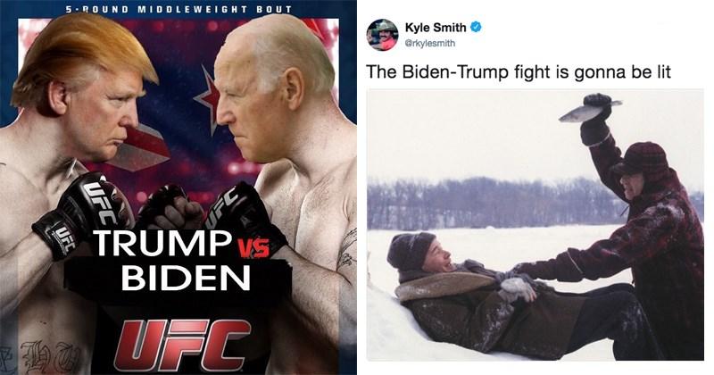 The Internet Is Having A Blast Imagining A Trump Vs. Biden Showdown