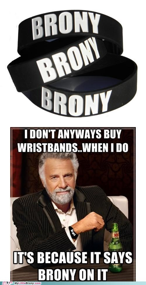 bracelete brony clothes dos equis i dont always wristband - 5123703552
