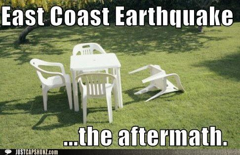 chairs dumb earthquake Natural Disasters