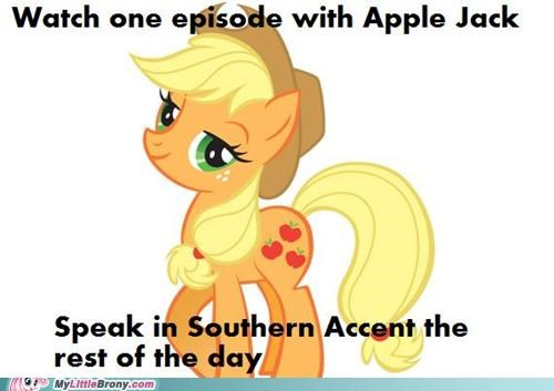 accent applejack howdy ponies the south - 5123938560