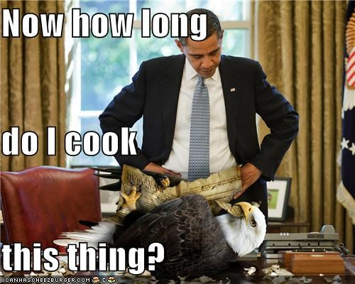 barack obama cooking eagles Oval Office photoshopped politicians president Pundit Kitchen