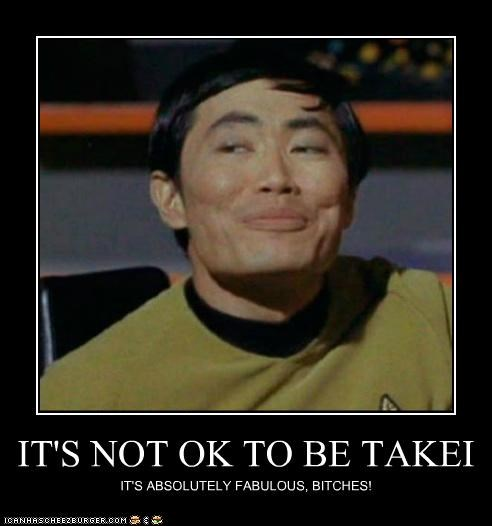 actor celeb demotivational funny george takei sci fi Star Trek TV - 5124476416