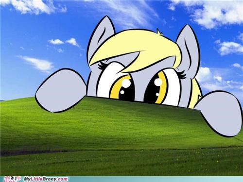 derpy hooves grass hill ponies windows - 5124504576