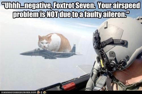 """Uhhh...negative, Foxtrot Seven. Your airspeed problem is NOT due to a faulty aileron."""