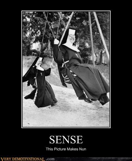 just-kidding-relax lol nonsense nuns puns swings - 5124578304