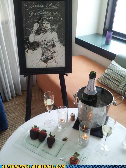 proposal,Random Heroics,wedding,wonder woman