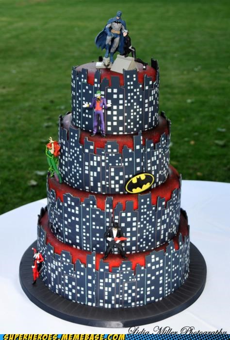 awesome Awesome Art batman best of week cake wedding - 5124789504