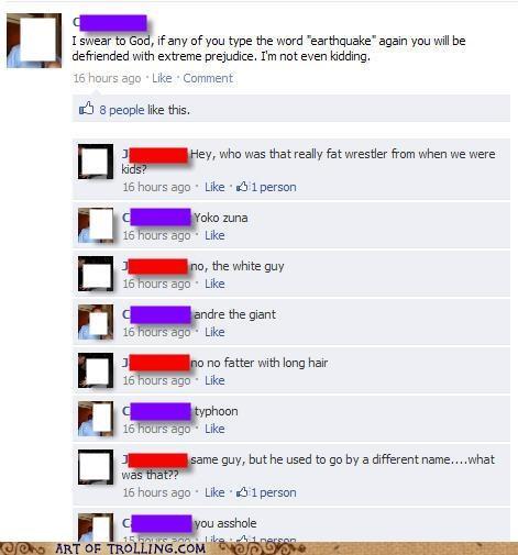 earthquake facebook remember the name wrestler