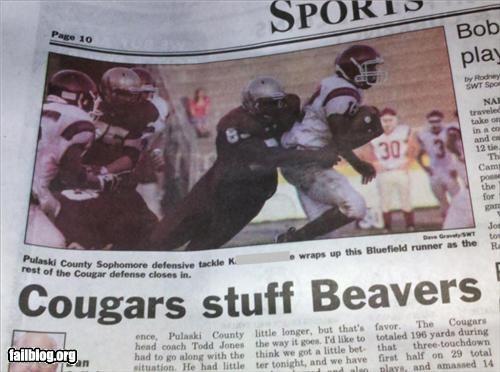 cougar failboat headline innuendo Probably bad News - 5124853504