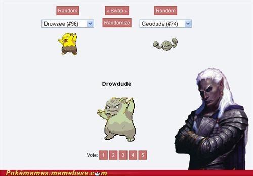 drizzt,drow,fusion,pokefusion,Pokémans,Underdark