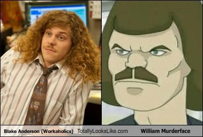 actors blake anderson cartoon characters cartoons dethklok Metalocalypse mustache mustaches william murderface