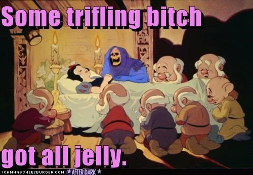 disney jelly photoshopped roflrazzi skeletor snow white trifling wat