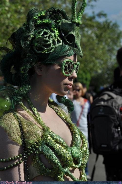 eco,festival,glasses,green,skull