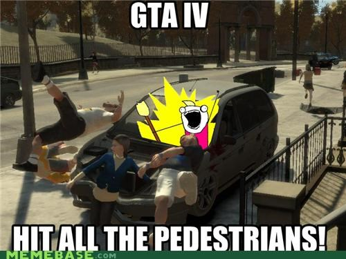 all the things crash drivings Grand Theft Auto pedestrians video games violence - 5125219328