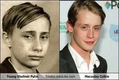 actors child actors macaulay culkin political politicians russia russian Vladimir Putin young youth
