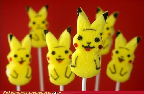 candy cute easter happy IRL peeps pikachu