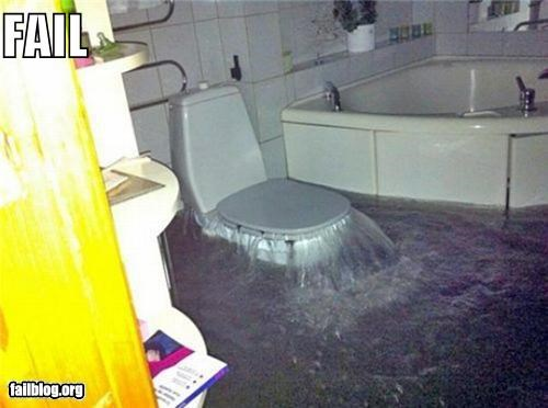 bathroom,failboat,flood,g rated,toilet