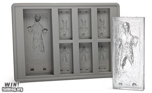 beverage,carbonite,drinks,Han Solo,ice,ice cubes,kitchen,nerdgasm,star wars