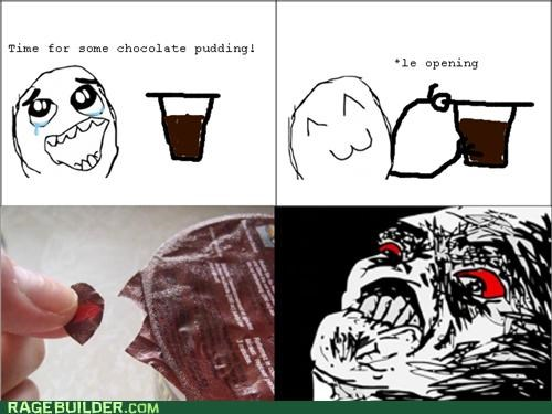 noms,pudding,Rage Comics,raisin face