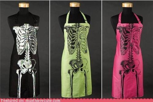 apron bones print skeleton skinny - 5126642432