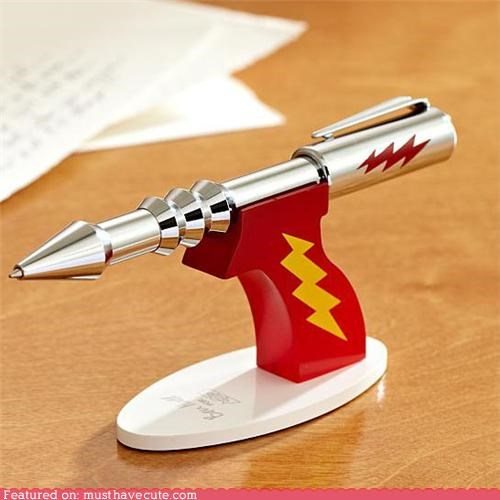 desk Office pen pew pew ray gun stand