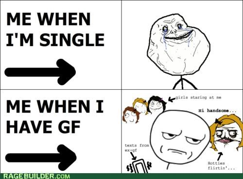 forever alone girlfriend ladies Rage Comics swagger - 5126740736