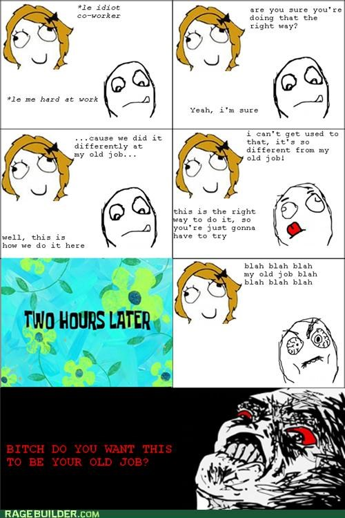 annoying coworkers old job Rage Comics raisin face - 5126756864