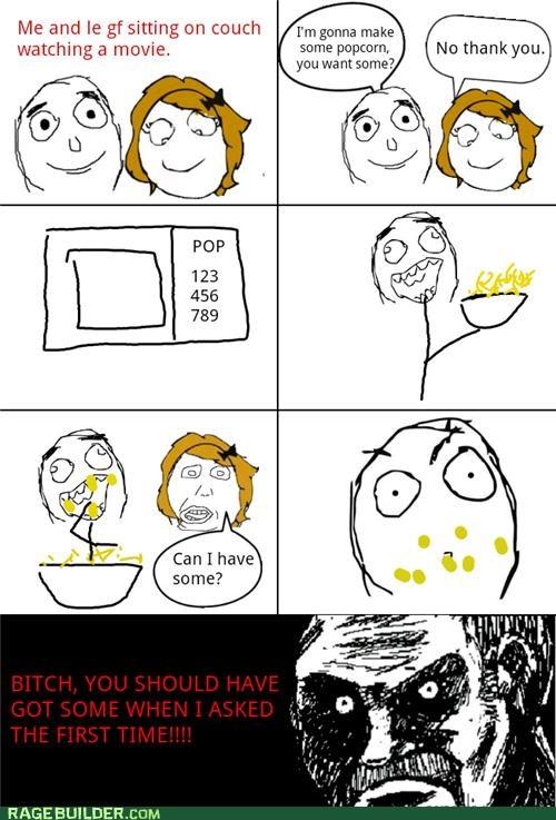 annoying best of week girlfriend Popcorn Rage Comics