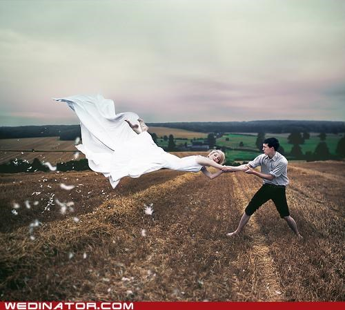 bride,funny wedding photos,groom,wind