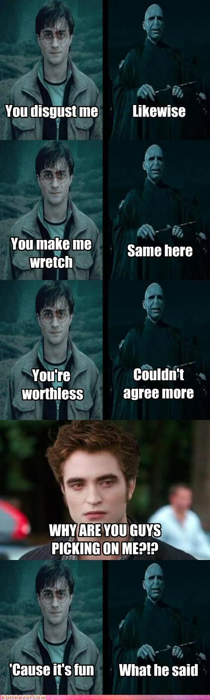 actor celeb comic Daniel Radcliffe funny Harry Potter ralph fiennes robert pattinson sci fi - 5127062528