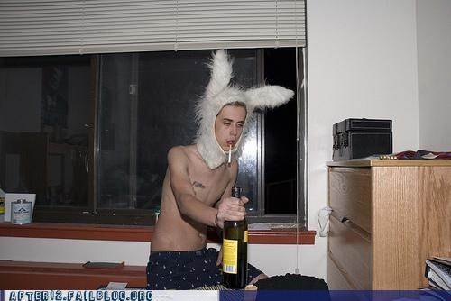 booze bunny ears costume party drunk smoking - 5127097856