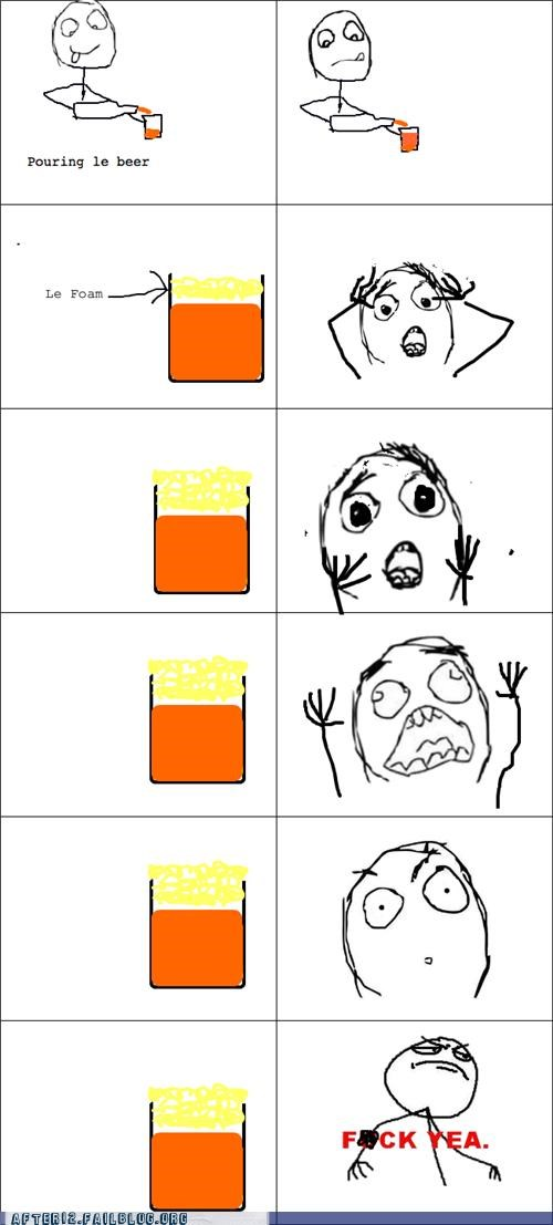 beer,edge,foam,panic,Rage Comics