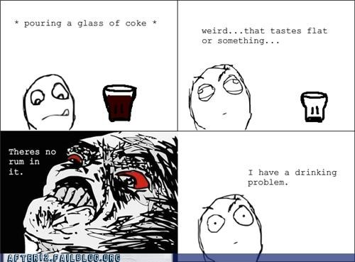 drinking problem,rage comic,Rum