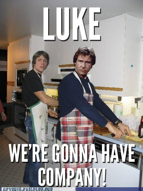 apron,dinner,Hall of Fame,Han Solo,kitchen,luke skywalker,star wars