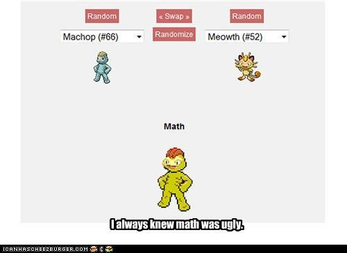 machop math Meowth Pokémans pokemon fusion youll-never-use-it-anyway - 5127237120