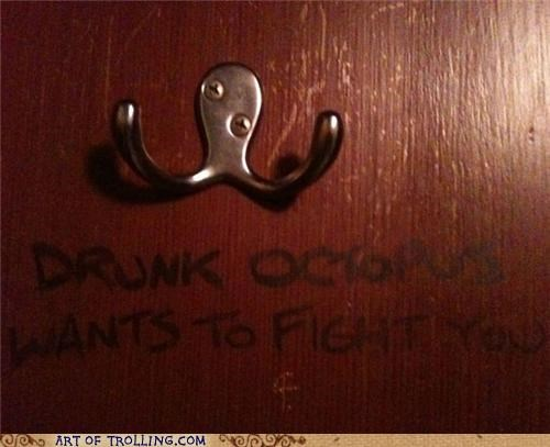 drunk,fight,IRL,octopus