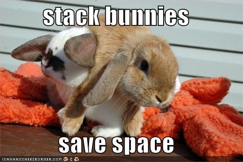 animals bunnies cute I Can Has Cheezburger space stacking - 5127864832