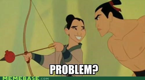 archery,arrows,cartoons,disney,mulan,problem,troll face