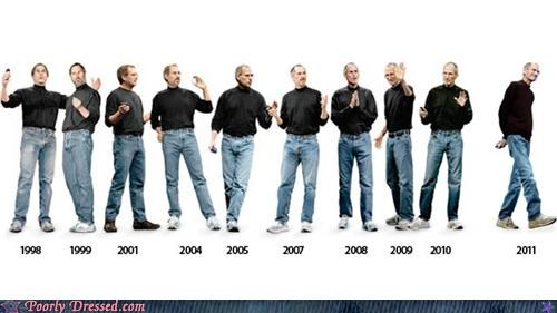 apple,black shirt,blue jeans,steve jobs