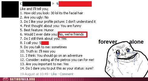 facebook forever alone friend zone list We Are Dating - 5128422400