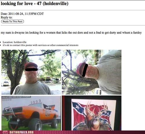 confederate craigslist missed connections outdoors redneck We Are Dating - 5128439808