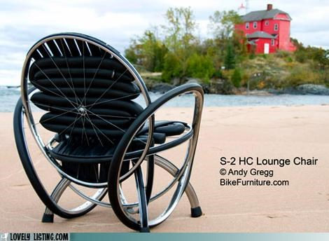 bike chair repurposed tires wheels - 5129595136
